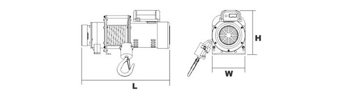 一根380v的卷扬电动葫芦接线图