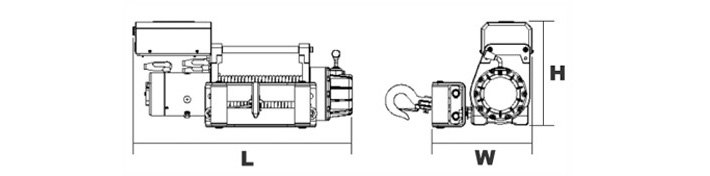 dw-6000(i)电动绞结构图