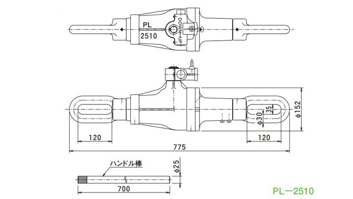 pl型机械牵引用千斤顶结构尺寸图片
