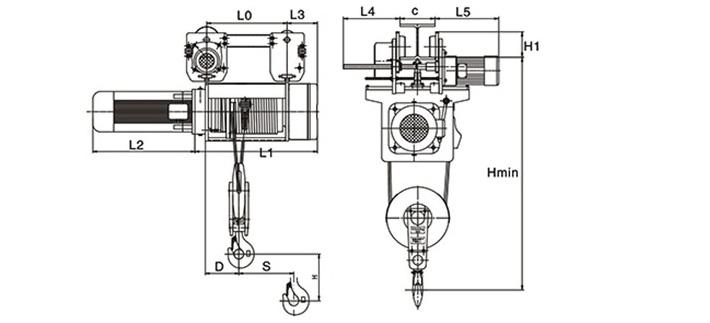 运行式电动葫芦(2/1滑轮倍率)