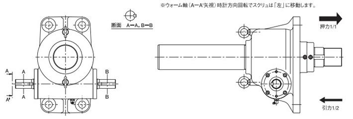 pr型标准涡轮千斤顶结构图