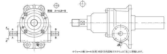 bj型滚珠螺杆涡轮千斤顶结构图片