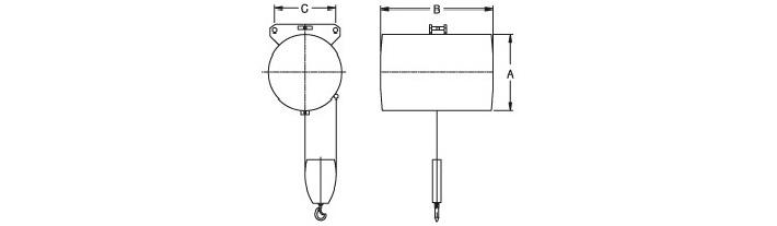 dongsung双绳气动平衡吊结构尺寸图
