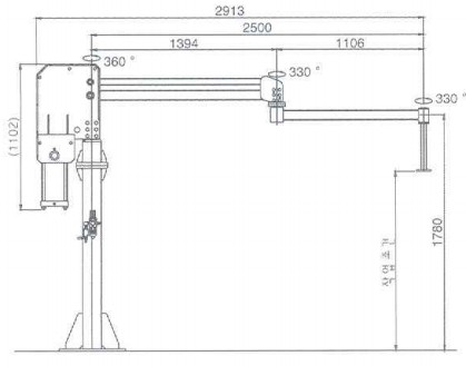 dsl-300气动平衡吊结构尺寸图
