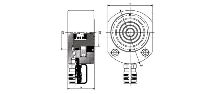 超薄同步千斤顶结构尺寸图片