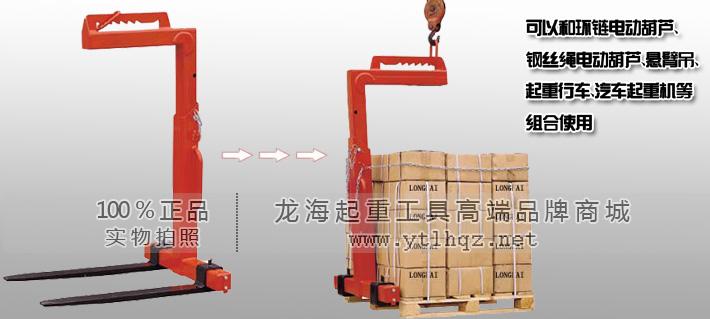 产品特点: ●龙升牌可调平衡吊叉结构坚固,货叉宽度和