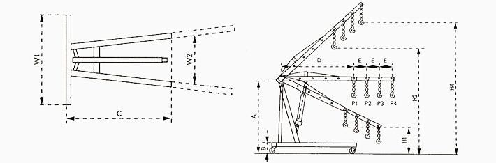 美式单臂吊结构尺寸图片