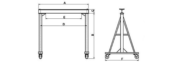 三角吊架结构的简图